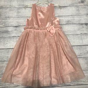 H&M Pink Satin Sparkle Tulle Formal PartyD…